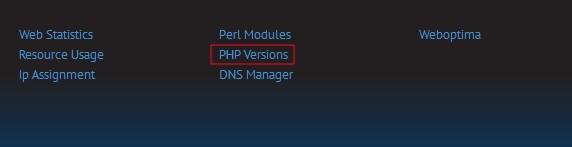 LunarPages主机LPCP面板修改PHP版本方法